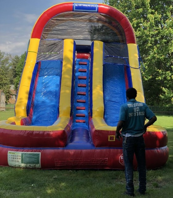 18 Foot Dual Wet N Dry Slide